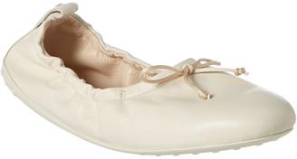 Tod's Gommino Leather Ballerina Flat