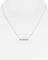 Adina 14K Yellow Gold Bar Pendant Necklace with Diamonds, 14