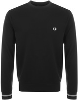 Fred Perry Crew Neck Sweatshirt Jumper Black