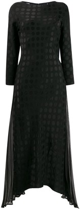 Karl Lagerfeld Paris x Carine satin dot dress