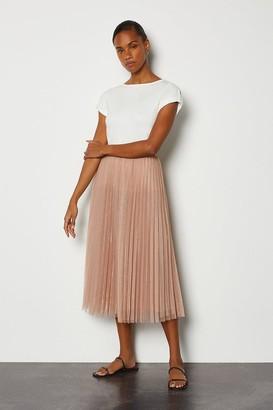 Karen Millen Tulle Pleated Midi Skirt