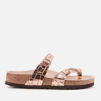 Birkenstock Women's Mayari Double Strap Sandals - Gator Gleam Copper