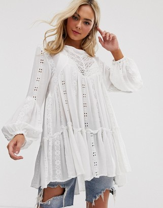 Free People Kiss Kiss tunic in white