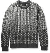 Beams Jacquard-knit Shetland Wool Sweater - Charcoal