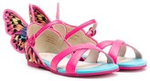 Sophia Webster Mini butterfly detailed flat sandals