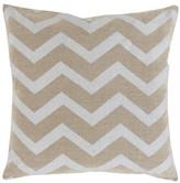 Surya Toss Pillow Linen Luxe Chevron