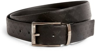 Emporio Armani Reversible Monogrammed Leather Belt