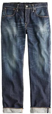 J.Crew CantonTM for slim unsanforized dark wash jean