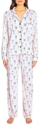 PJ Salvage Drink Happy Thoughts Knit Pajama Set