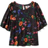 Old Navy Floral Flutter-Sleeve Top for Girls