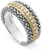 Lagos 18K Gold and Sterling Silver Caviar Band Ring