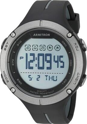 Armitron Sport Men's 40/8456OGY Digital Chronograph Grey and Orange Resin Strap Watch