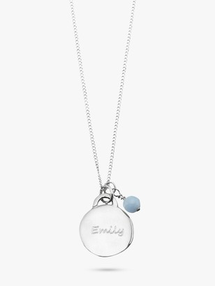 Under the Rose Personalised Birthstone Pendant Necklace