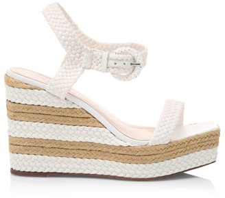 Schutz Nani Braided Leather Platform Wedge Sandals