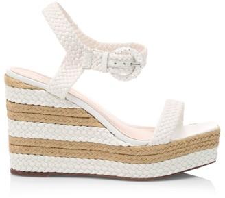 Schutz Nani Braided Leather Platform Wedge Sandals