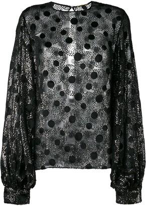 Saint Laurent sheer polka dot blouse