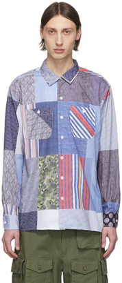 Engineered Garments Multicolor Patchwork Print Shirt