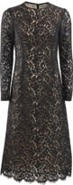 Michael Kors Long Sleeve Crewneck Floral Lace Dress