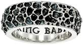King Baby Studio Lava Rock Textured Band Ring Ring