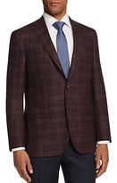 Jack Victor Tonal Textured Plaid Classic Fit Sport Coat