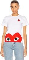Comme des Garcons Red Emblem Heart Tee