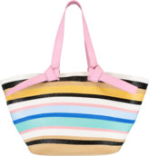 Emilio Pucci Pink and Multi Color Striped Tote