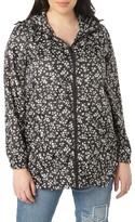 Evans Plus Size Women's Ditsy Floral Print Raincoat