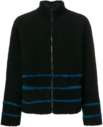 Inès & Marèchal Striped Shearling Coat