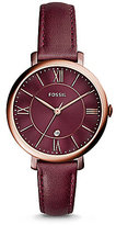 Fossil Jacqueline Three-Hand Leather-Strap Watch