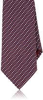 Brioni Men's Dot Jacquard Necktie-BURGUNDY