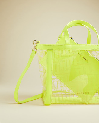 Ted Baker NADIAA T branded small transparent tote