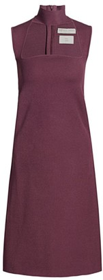 Bottega Veneta Studded Turtleneck A-Line Dress