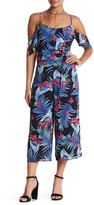 Ark & Co Print Cold Shoulder Jumpsuit