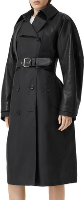 Burberry Trench Coat with Removable Leather Jacket