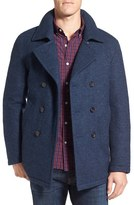 Sanyo Men's Fashion House Water Repellent Knit Wool Down Peacoat
