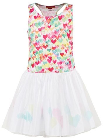 Kate Mack - Biscotti Multi Heart Print Tutu Dress