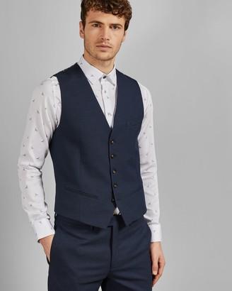 Ted Baker Textured Semi Plain Waistcoat