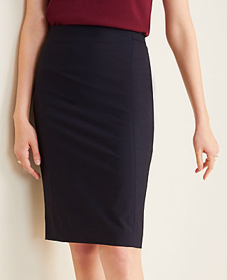 Ann Taylor The Petite Pencil Skirt in Tropical Wool