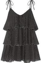 Lisa Marie Fernandez Imaan Tiered Polka-dot Cotton-voile Mini Dress