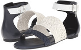 Armani Jeans Leather and Woven Eco Leather Sandal