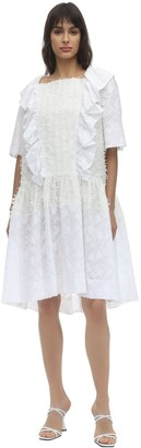 pushBUTTON Ruffled Fil Coupe Gauze Dress