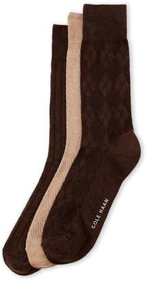 Cole Haan 3-Pack Tonal Argyle Socks