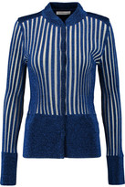 J.W.Anderson Lurex Ribbed Lamé And Stretch-Knit Cardigan