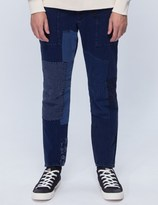 "Blue Blue Japan Pure Indigo ""sashiko"" Hand Patchwork Pants"