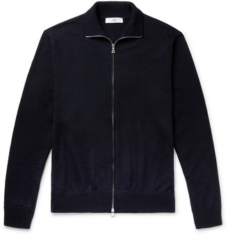 Mr P. Merino Wool Zip-Up Cardigan