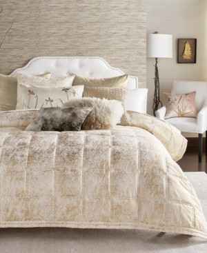Michael Aram Metallic Textured Coverlet Queen Quilt Bedding