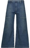 Current/Elliott The Culotte High-Rise Wide-Leg Jeans
