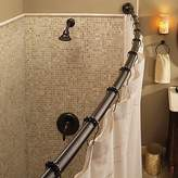 Moen Adjustable Curved Old World Bronze Shower Rod with Features decorative covers