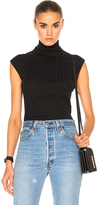 Enza Costa Cashmere Sleeveless Turtleneck Tee