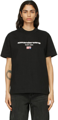 Alexander Wang Black Logo Graphic T-Shirt